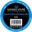 Superfine MTL Fused Clapton Wire Ni80 30GAx2+38GA