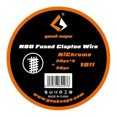 Ni80 Fused Clapton Wire 30ga x 3+38ga